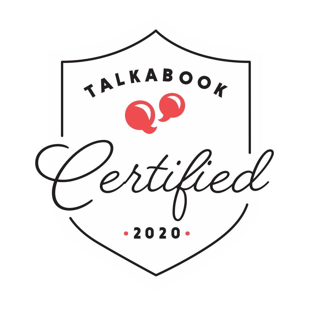 Talkabook Certified Logo